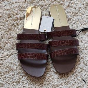 New Zara leather sandals